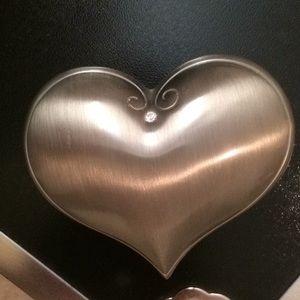 Swarovski Heart Decor